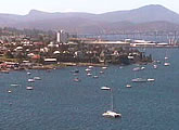 Spectacular live view of Hobart and harbour from Wrest Point Casino
