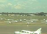 Web cam points south accross runway, Bankstown Airport, Sydney.