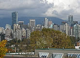 Regularly updated view of downtown Vancouver, BC.