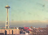 Live webcam view of the Space Needle, from The Seattle Times.