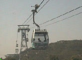 View of current conditions along the Ngong Ping Cable Car, Lantau Island.