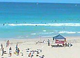 Live beach cam pointing south west, located at Trigg Surf Life Saving Tower.