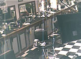 Live webcam from Toby's Barbershop.