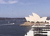Live webcam views of Sydney Opera House and the Ocean Terminal.