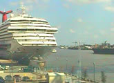 Live view of the Julia Street Cruise Terminal and the Erato Street Cruise Terminal, New Orleans.