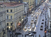 Live streaming video from Nevsky Avenue, St Petersbrug.