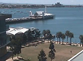 Webcam view of Geelong's waterfront and Steampacket Gardens.