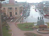 Webcam view looking north up Charlottetown's main street, University Avenue.