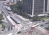 Live view over busy interestion, São Paulo, SP.
