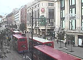 Busy Oxford Street webcam.