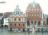 View of House of the Blackheads, Old Riga.