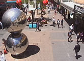 A live view of the Mall's Balls and Adelaide's retail heart.