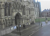 Webcam of the south facing door of York Minster cathedral.