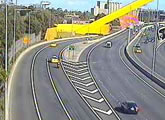 Several freeway webcams along Melbournes CityLink.