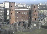 Livew view of the Piazza San Giovanni Roman Gate.