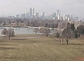 Downtown Denver skyline from a distance - Denver Museum of Nature and Science.