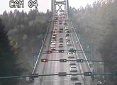 BC highway cam over the Lions Gate Bridge, Vancouver.