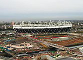 A view of London's Olympic Stadium from the BBC.