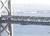 Close up live view of the bay Brisge.