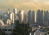 Live view of the Vancouver skyline.