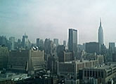 View of the Empire State Building and Midtown.