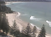 Several live webcams of Rainbow Bay and Snapper Rocks from the Gold Coast.
