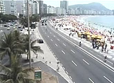 Live Copacabana street and waterfront.