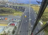 Live VicRoads traffic looking toward Port Melbourne and the Bay.