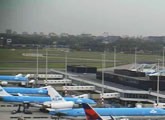 View of Airport from Sheraton Amsterdam Airport Hotel.