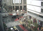 Streaming view of a Shinjuku intersection.
