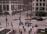 Street level cam from downtown Chicago.