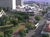 Streaming views of Cairns city centre (downtown) from the Pacific International Hotel Cairns.