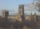 View from the roof of the Department of Physics, University of Durham.