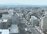 Nara City view from rooftop of Kintetsu-Nara Station.