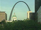 View of the St Louis landmark.